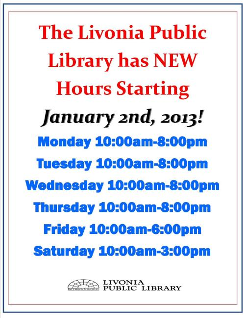 new hours 2013