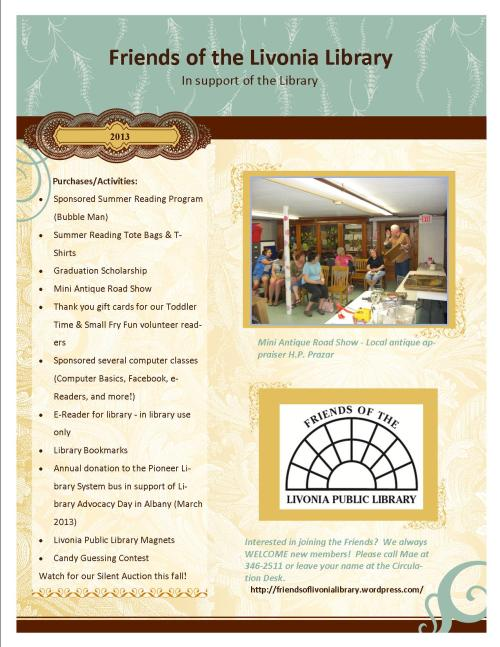 2013 Purchases and Activities flyer