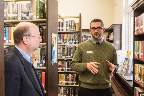 Assemblyman Bill Nojay with Livonia Library Director Frank Sykes